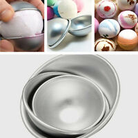 3D Aluminum Ball Sphere Pan Cake Mold Bath Bomb Mold Baking Chocolate Mould 2pcs