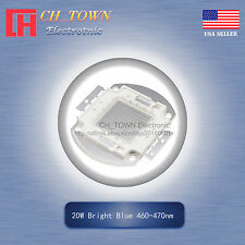 1pcs 20w Watt High Power Blue 460 470nm Smd Led Chip Blub Beads Cob Lamp