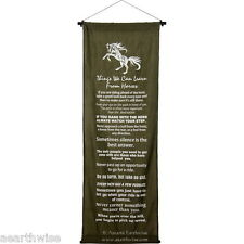 THINGS WE LEARN FROM HORSES WALL HANGING BANNER 1219 x 450 mm Wicca Witch Pagan
