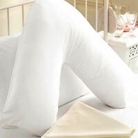 Supreme Quality Duck Feather Nursing Back Neck Pregnancy V Shaped Support Pillow