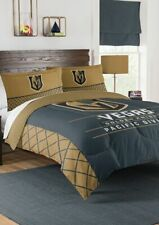 NHL Las Vegas Golden Knights Queen Bed Comforter Blanket w/ 2 Sham Pillow Set