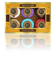 Luxury Oud Mini Round Soap Collection 6 Pack Travel Size