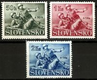 DR Nazi Slovakia Rare WWII Stamp 1941 Soldiers Legion Hlinka War Scene Red Cross