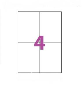 20X Feuille Autocollante Papier 80 étiquettes 104x148mm A6 soit 4 par Planche