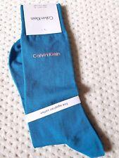 Calvin Klein Fine Egyptian Cotton TEAL & Pink logo dress socks MADE IN PORTUGAL