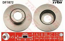 2x TRW Disques de Frein Avant Ventilé 284mm pour JAGUAR XJS DF1872 - Mister Auto