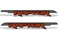 "62"" X 7.25"" Ford F150 RAPTOR Graphics Bed Decals Truck Stickers 2015-2018 ORANGE"