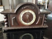 Antique French VEDETTE Westminster chime table clock.