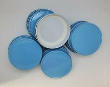 Mason Jar Lids Regular Mouth, Leak Proof and Secure 12 pack Carolina / Baby Blue