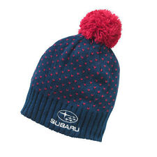 Genuine Subaru Ladies' Pom Pom Beanie Hat Impreza STI WRX Gray Ski Snow New navy