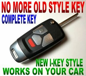 I-KEY STYLE FLIP REMOTE FOR 2003-2007 HUMMER H2 ALARM CLICKER KEYLESS ENTRY FOB