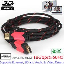3m HQ HDMI Cable Lead 10.2Gpbs Super Slim Thin ARC HEC 1080p Small Head Flexible
