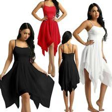 Vestido de baile mujeres Damas Chifón Ballet Contemporáneo Vestido Latino Tango Salón de Baile