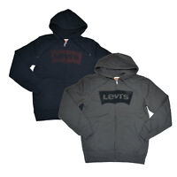 Levis Mens Sweatshirt Full Zip Hoodie Jacket Graphic Logo Hooded Outerwear New S