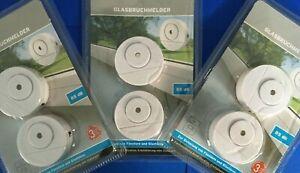 6 x Glasbruchmelder Fensteralarm Einbruch Melder Alarmanlage Fenster Tür Alarm