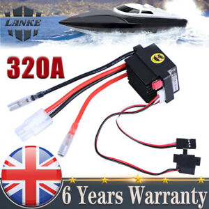 Waterproof High Voltage 320A Brushed ESC Speed Controller  For RC Car Boat UK