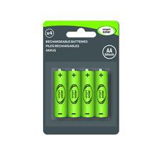 4 Pack Solar Rechargeable Battery Ni-MH AA 600 mAh 1.2V | Christmas Lights