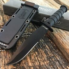 "6"" M-Tech Tactical Black Survival Army Fixed Blade Mini Neck Knife w/ Sheath -A"