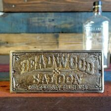 Deadwood Saloon Plaque Sign, Girls Whiskey Gambling, Man Cave Bar Shop Pub Decor