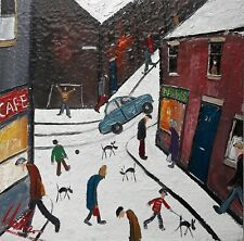 WALKER SCOTT Original Contemporary Modern Northern Urban Street Art Oil Painting