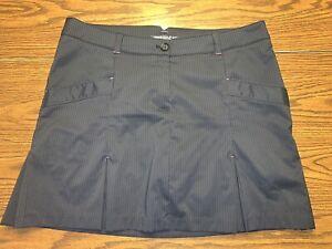 Women's Nike Golf Tour Performance Dri-Fit Skort Skirt Size 14 Black/Grey