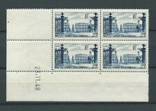 COIN DATÉ - 1948 YT 822 - 25 f. bleu - PLACE STANISLAS - NEUFS** MNH