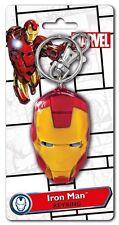 Marvel Comics Iron Man Mask Face Colored Pewter Key Ring Keychain, NEW UNUSED