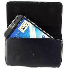 Bolso para Samsung Galaxy Note 2, 1 cinturón imitación cuero, funda protectora, funda-negro