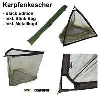 "XXL 36"" Karpfenkescher inkl. Tasche, 92cm Bügelöffnung Landing Net Metallblock"