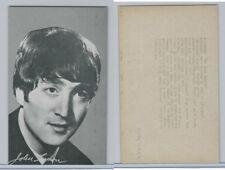 1960's Exhibit, Male Music Artists - BIO Backs, Beatles, John Lennon (H), ZQL