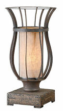 "Minozzo Accent Table Lamp, Rustic Bronze Metal Finish 18""H by Uttermost 29573-1"