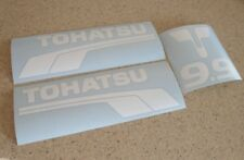 Tohatsu Vintage Outboard Motor 9.9 HP Decals White FREE SHIP + FREE Fish Decal