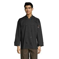 Classic with Mesh Chef Coat, Black, Xs to 3Xl, 0426 Free Shipping