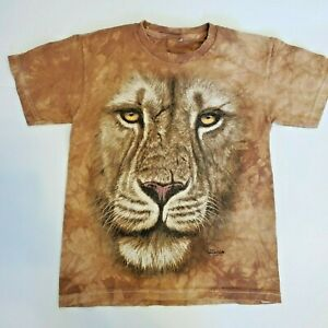 The Mountain Lion Face Tee - Unisex -either kids or xs adult-see measurements