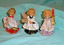 Three Fontanini Choir Figurines 1987 #'s 621, 624, 623 Made in Italy
