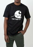 CARHARTT - T Shirt Bianca E Nera Mezza Manica Uomo Casual Girocollo Outdoor