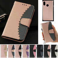 Splice Wallet Leather Flip Stand Case Cover For Huawei P20 Lite Mate 10 Lite Pro