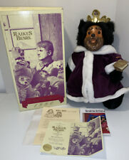 Robert Raikes King William Bear-Royal Court Collection-Wood Carved Face & Feet