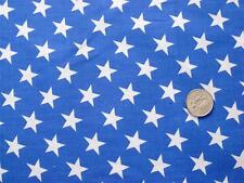 BLUE WHITE STARS PATRIOTIC USA AMERICAN FLAG SEW CRAFT DECOR FABRIC BY HALF YDS
