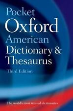 Pocket Oxford American Dictionary and Thesaurus (2010, Paperback)