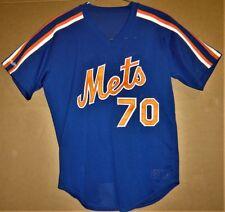 New York Mets #70 Blue 1987-1992 Era Batting Practice Jersey and Free Pants!