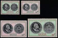 Ghana postfris 1965 MNH 220-223 - Decimal Currency System