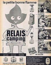 PUBLICITE ADVERTISING 015 1962 RELAIS CAMPING bouteille de gaz