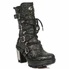 High (3 in. and Up) Leather Floral Boots for Women