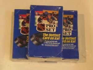 1990 Pro Set NHL Hockey Series 1 Boxes-Lot of 3 Factory Sealed Boxes