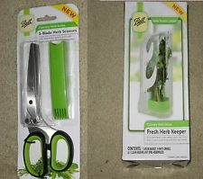 Ball Fresh Herb Keeper and  Ball 5-blade Herb Scissors  Great for Chef