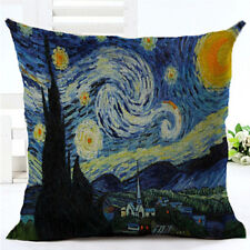 Van Gogh Starry Night Square Cushion Covers Pillow Cases Home Decor Pillow Cover
