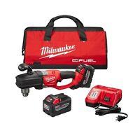 Milwaukee 2707-22HD M18 FUEL HOLE HAWG Right Angle Drill Kit w/ Quik-Lok  New