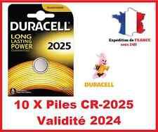 10 Piles CR-2025 DURACELL bouton Lithium 3V DLC 2026