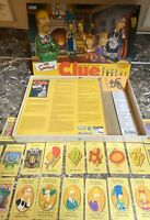 Parker Brothers The Simpsons Clue 2002 Replacement Box & Cards Only Used